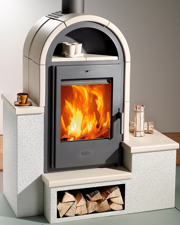 Fireplace Kaminofen »Serena«, Kachel beige, 7 kW, 3 Sitzbänke