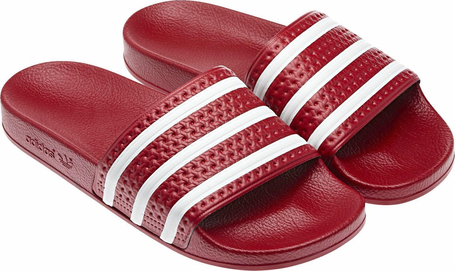 adidas Originals Adilette Badesandale kaufen  rot-weiß