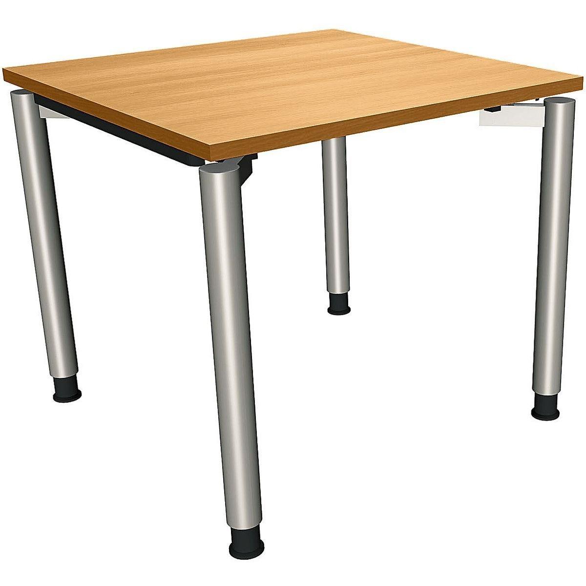 FMBUEROMOEBEL Manuell höhenverstellbarer Schreibtisch 80 cm 4-Fuß... »Sidney« | Büro > Bürotische > Schreibtische | FMBUEROMOEBEL