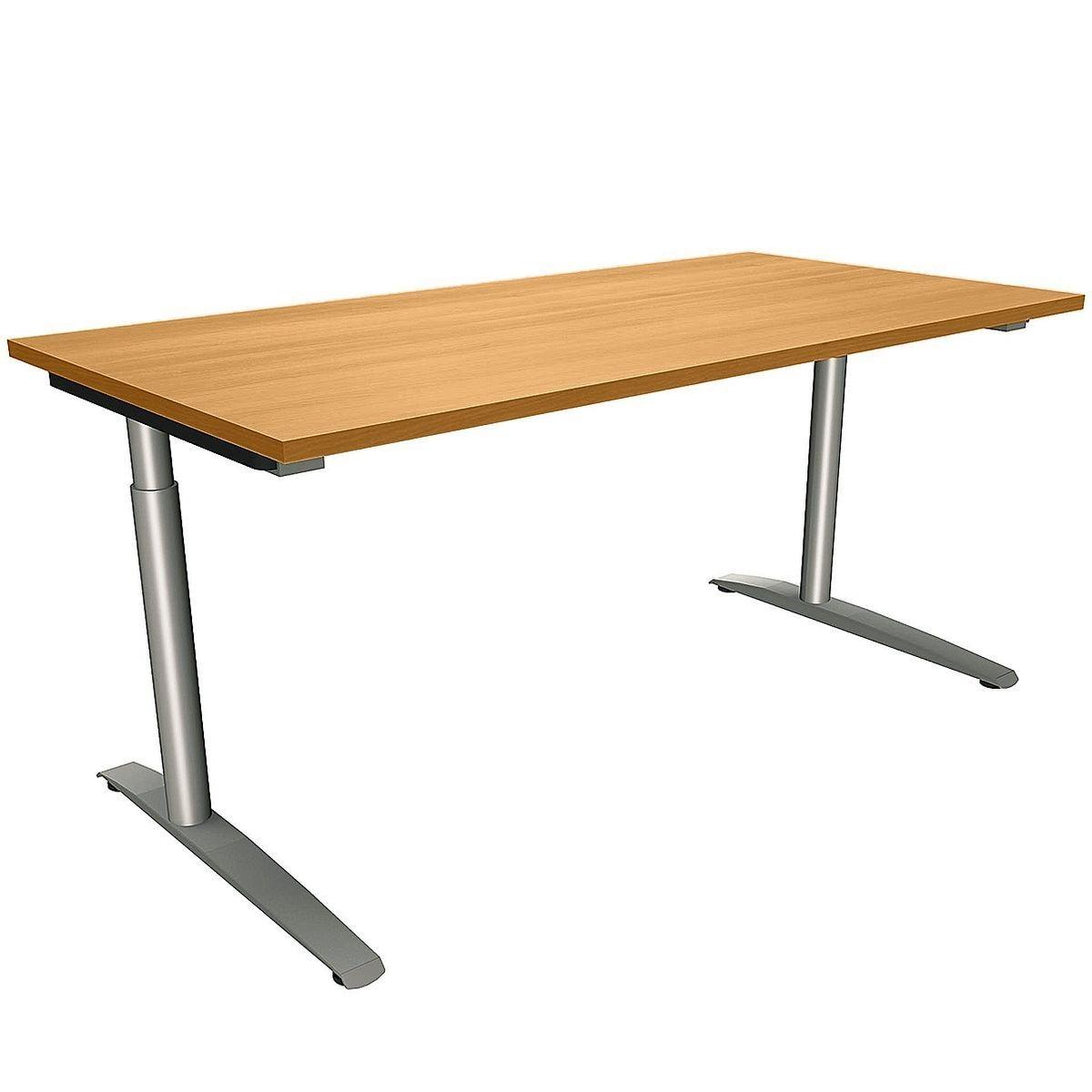 FMBUEROMOEBEL Manuell höhenverstellbarer Schreibtisch 160 cm C-Fu... »Sidney« | Büro > Bürotische > Schreibtische | FMBUEROMOEBEL