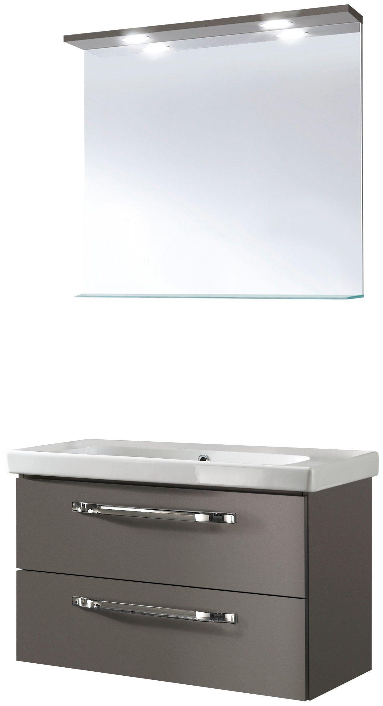 OPTIFIT Badmöbel-Set »OPTIbasic 2060«, Breite 85 cm, 3-tlg.