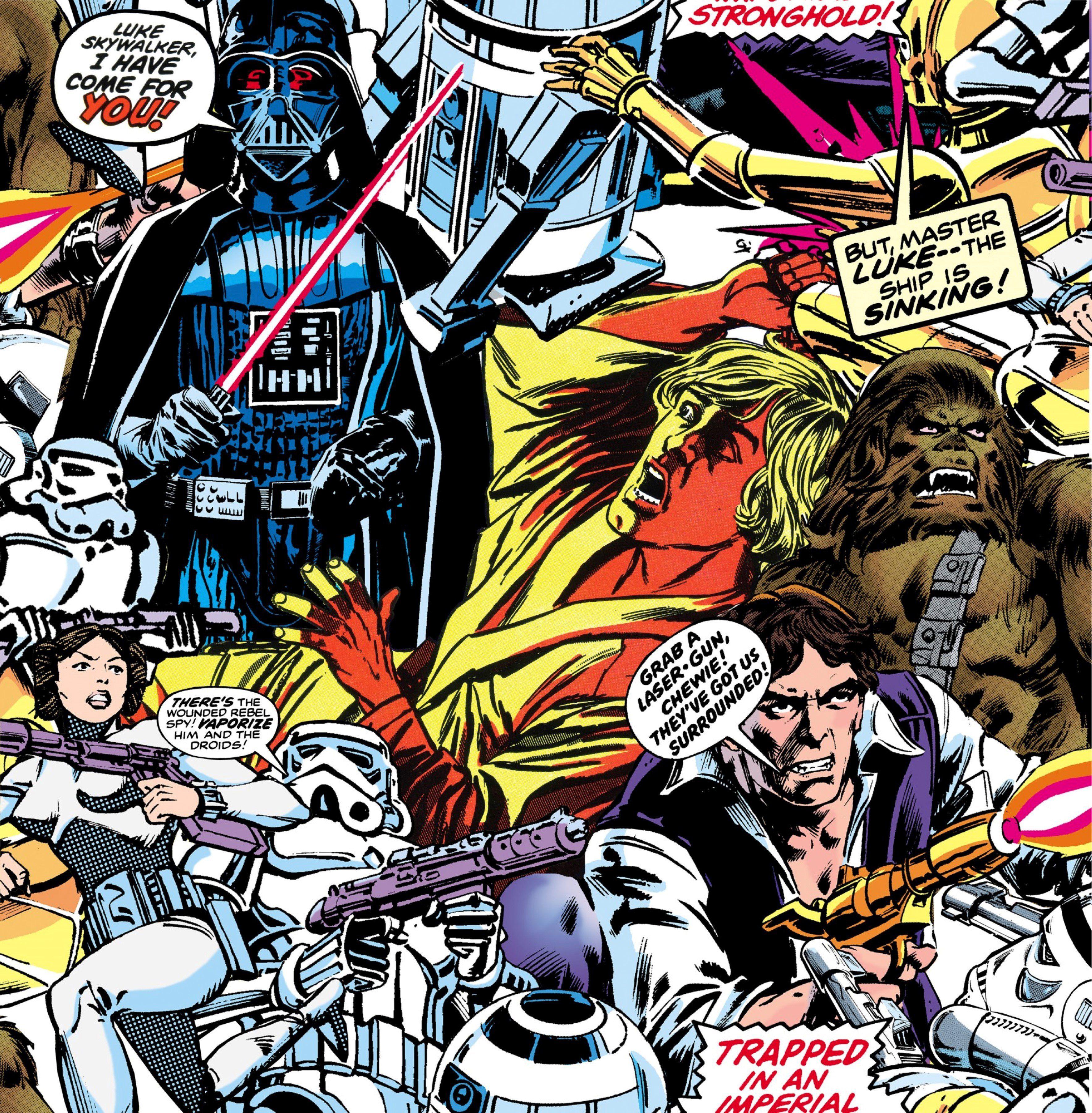 GRAHAM & BROWN Fototapete »Star Wars Cartoon«