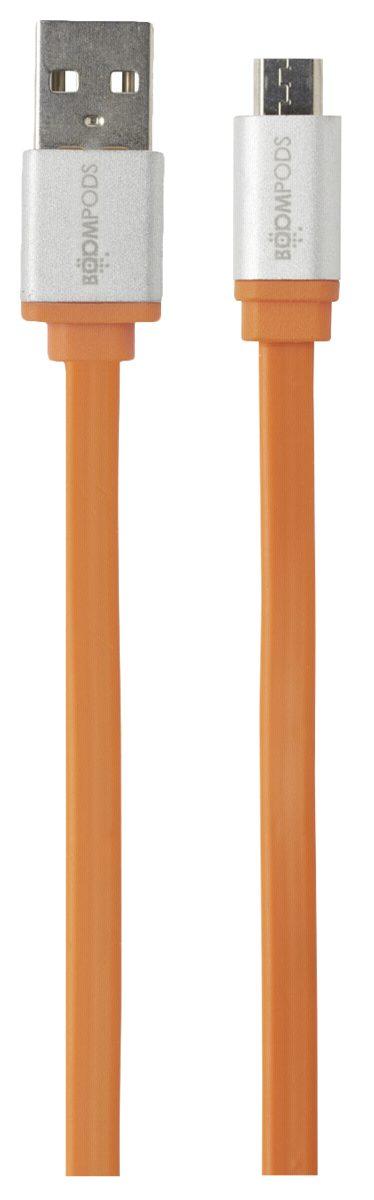 Boompods Kabel und Adapter »Flatline Micro-USB auf USB Kabel 1,0 m«