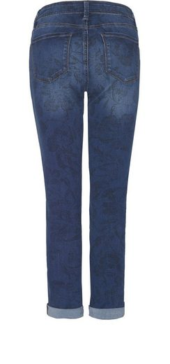 NYDJ Convertible Ankle aus printed denim