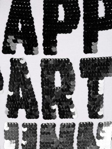Amy Vermont Shirt mit Paillettenschriftzug