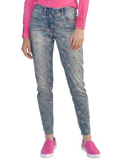 Amy Vermont Jeans With Flower Print