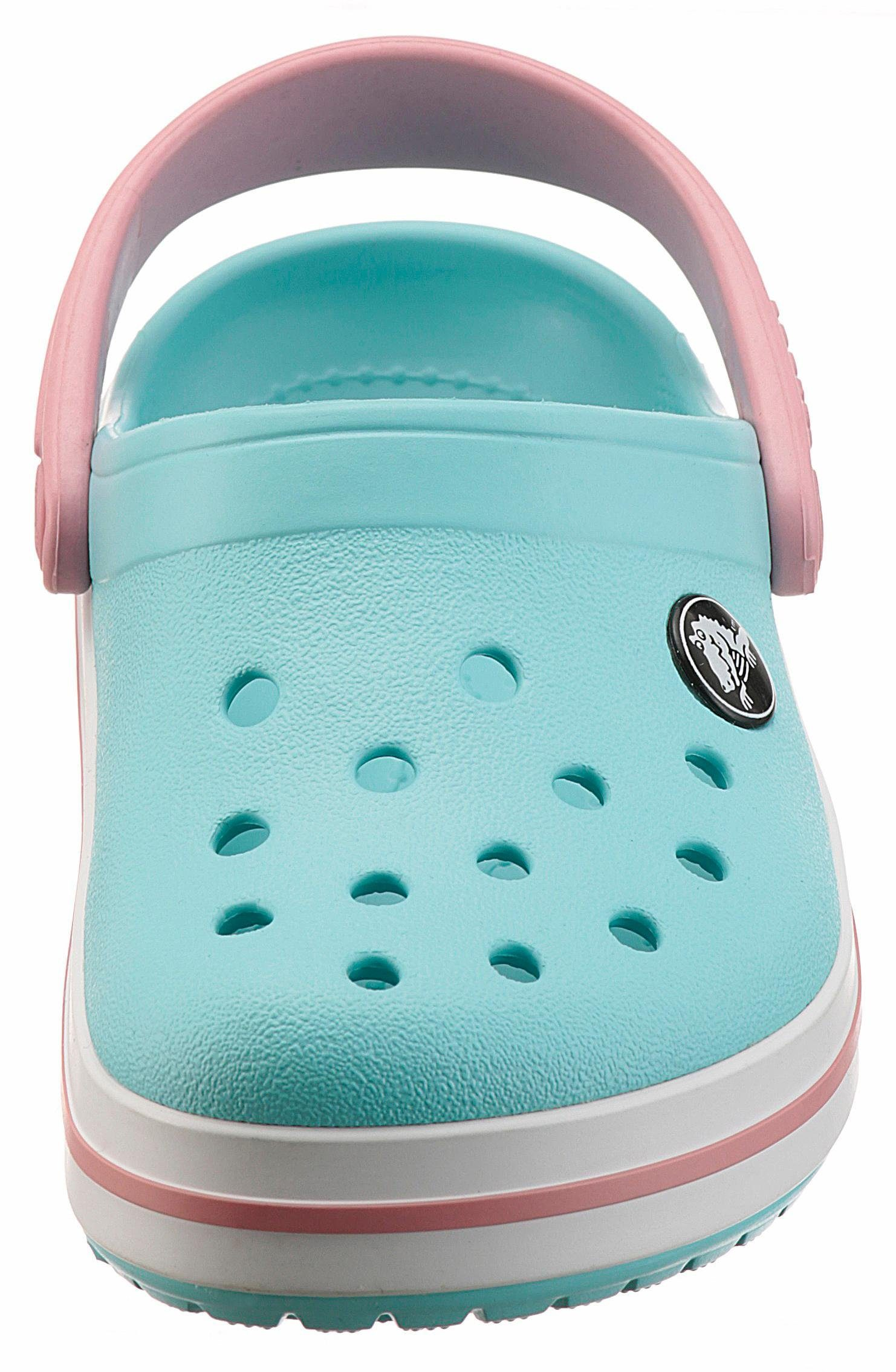Crocs »Crocband Clog« Clog, mit kontrastfarbenen Akzenten, blau, hellblau-weiß