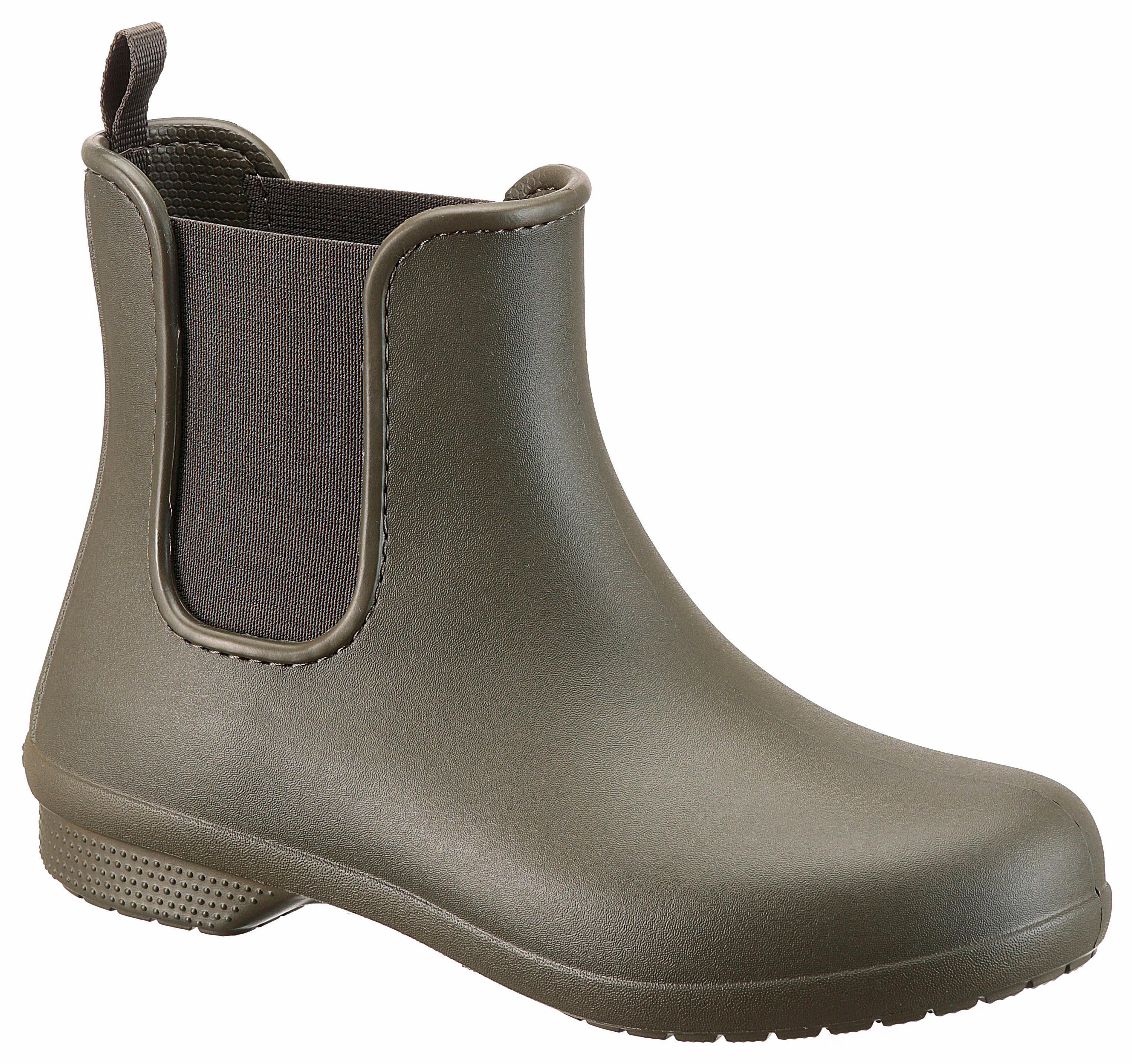 Crocs »Freesail Chelsea Boot W« Gummistiefel, mit praktischem Stretcheinsatz, blau, navy-geblümt