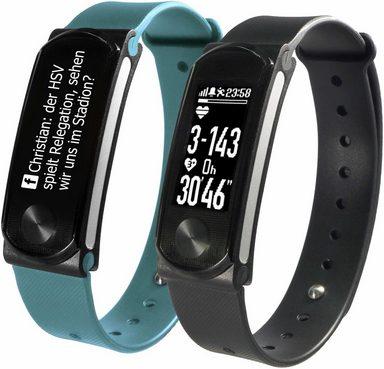 SportPlus Fitness-Tracker »Q-Band HR+ SP-AT-BLE-90« (Set), mit Wechselarmband