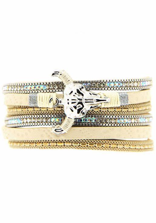Sweet Deluxe Armband »Bull, 6387«, mit Strass- und Glassteinen