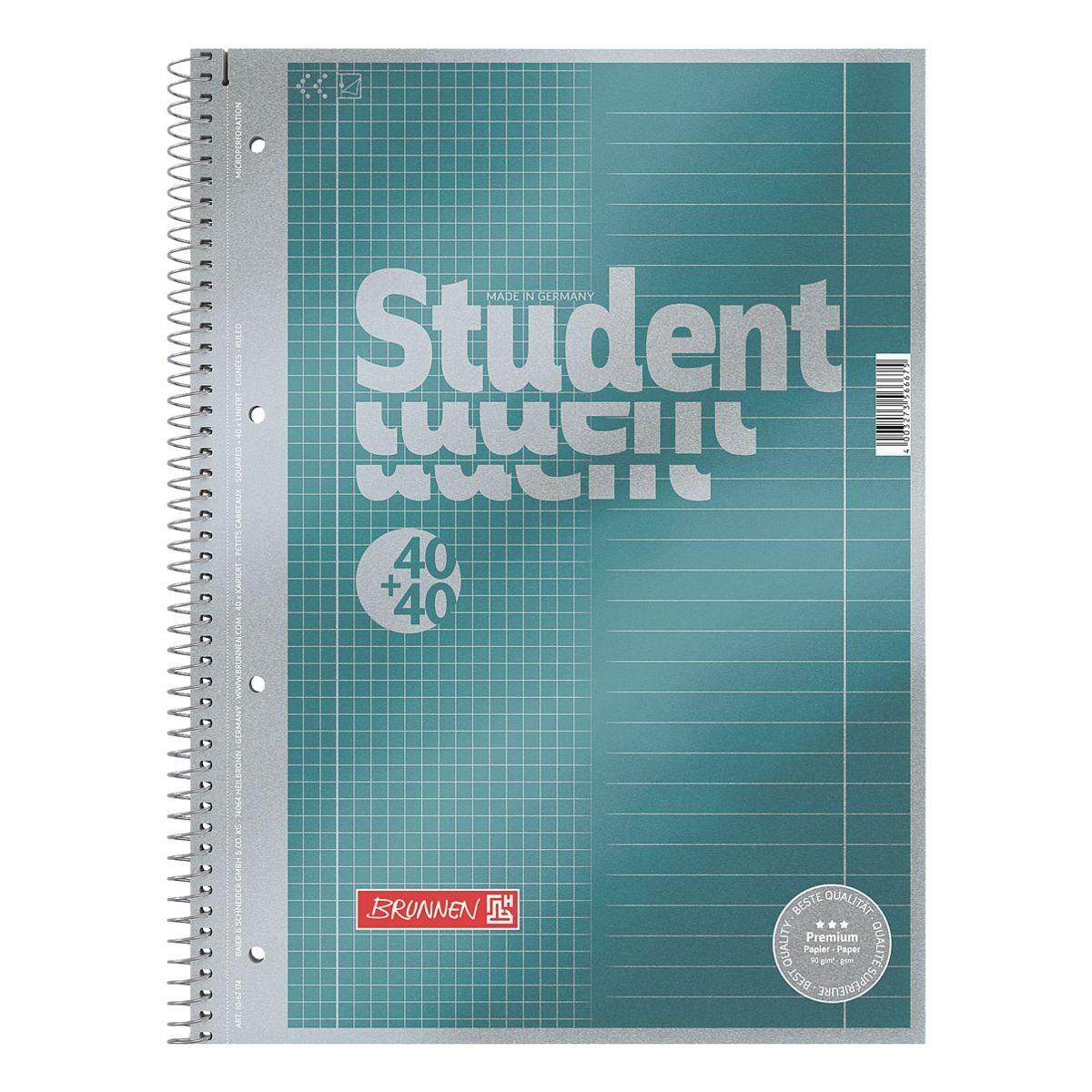 BRUNNEN Collegeblock A4 Sonderlineatur, Premium Papier »Duo«