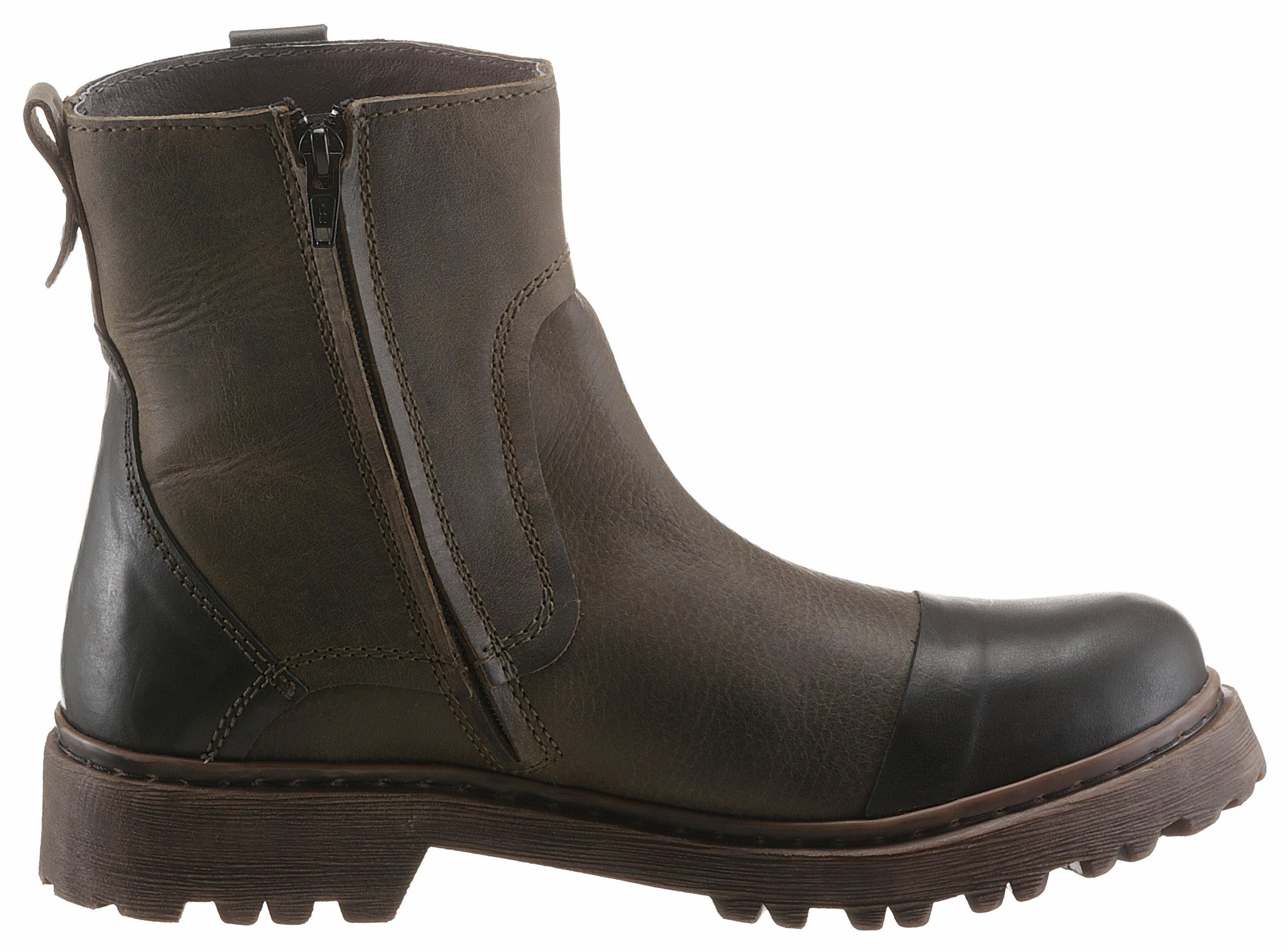 Yellow Cab Stone Stiefel, mit Innenreißverschluss online kaufen  olivgrün