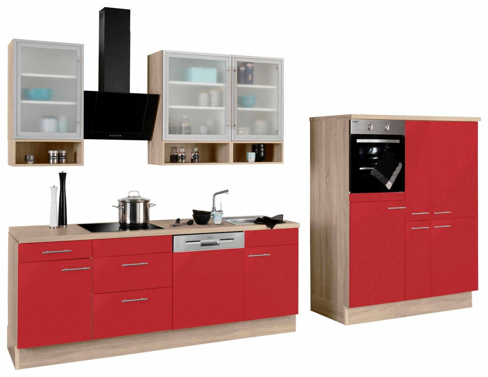 OPTIFIT Küchenzeile mit E-Geräten »Aue«, Breite 370 cm