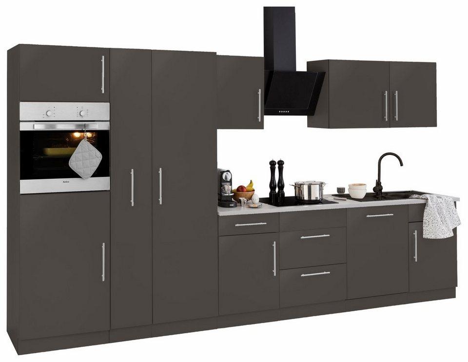 Küchenzeile »Cali« mit E-Geräten, Breite 360 cm mit Metallgriffen ...
