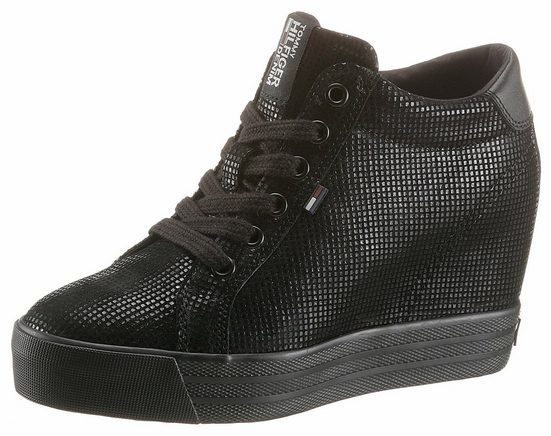 Hilfiger Denim Nice Wedge Sneaker, With Padded Collar