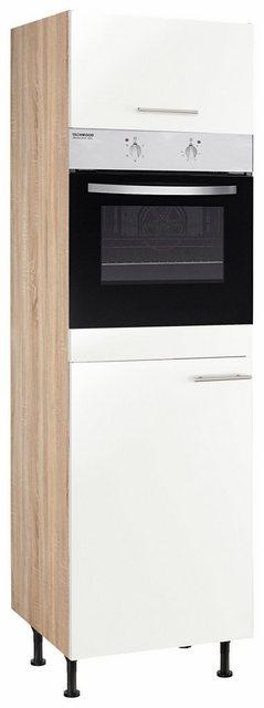 OPTIFIT Backofen-/Kühlumbauschrank »Aue« | Küche und Esszimmer > Küchenelektrogeräte > Herde und Backöffenen | Hell - Weiß - Matt - Glanz | Eiche - Edelstahl - Melamin | OPTIFIT