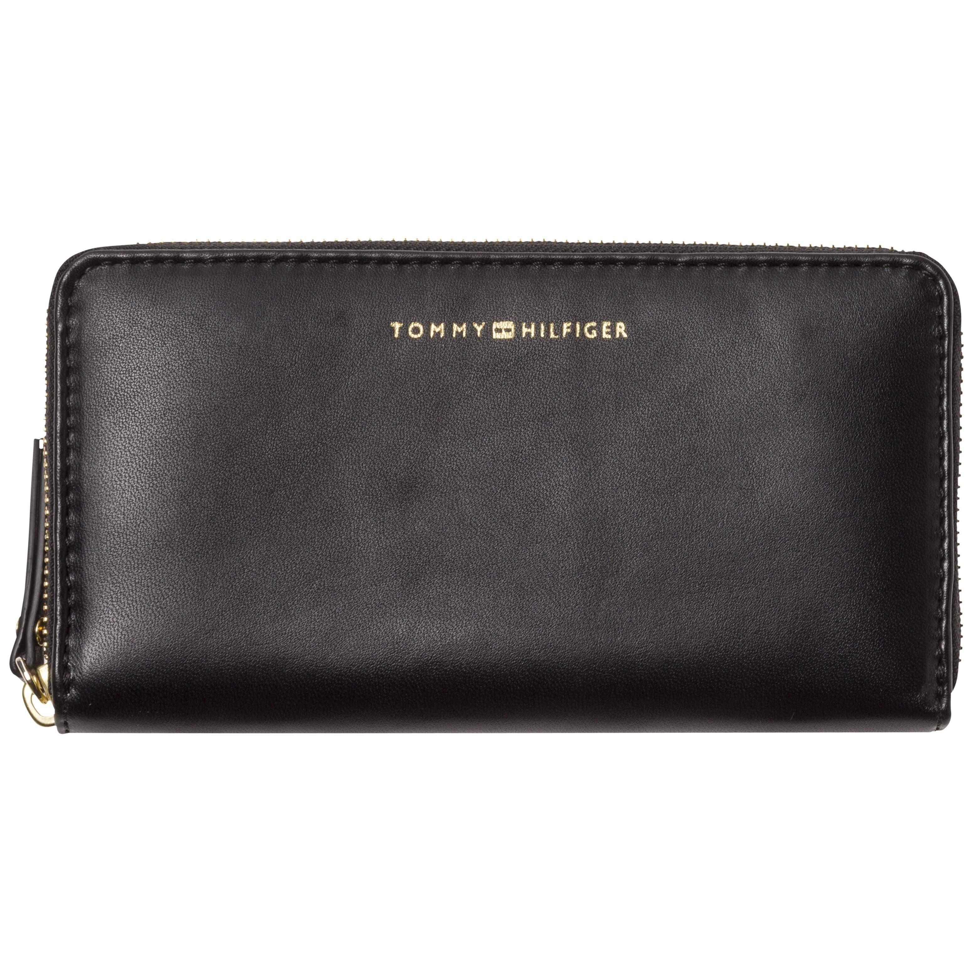 Tommy Hilfiger Geldbörse »SMOOTH LEATHER LRG ZA WALLET«, aus hochwertigem Leder mit praktischer Handgelenksschlaufe