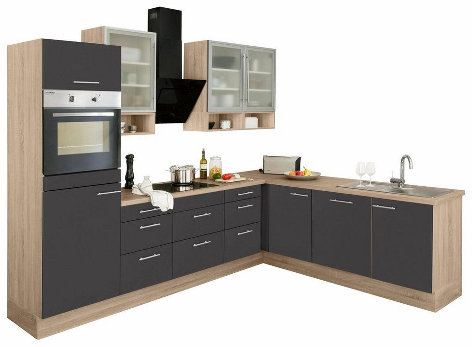 optifit winkelzeile mit e ger ten aue breite 285 225 cm. Black Bedroom Furniture Sets. Home Design Ideas
