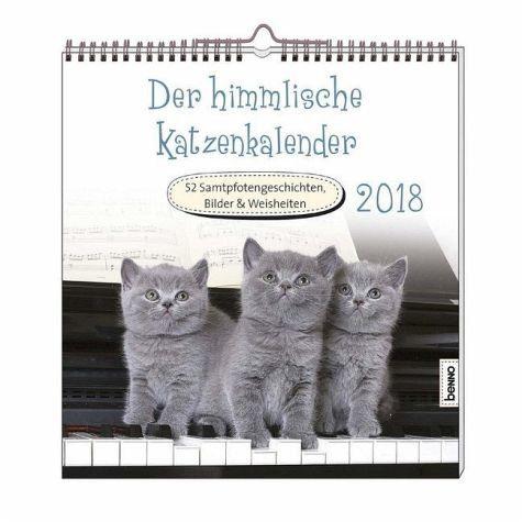 Kalender »Der himmlische Katzenkalender 2018....«