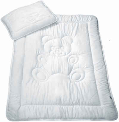 Kinderbettdecke + Kopfkissen, »Bär«, MESANA, Füllung: silikonisierte Hohlfaser (Bettdecke), Bezug: Microfaser