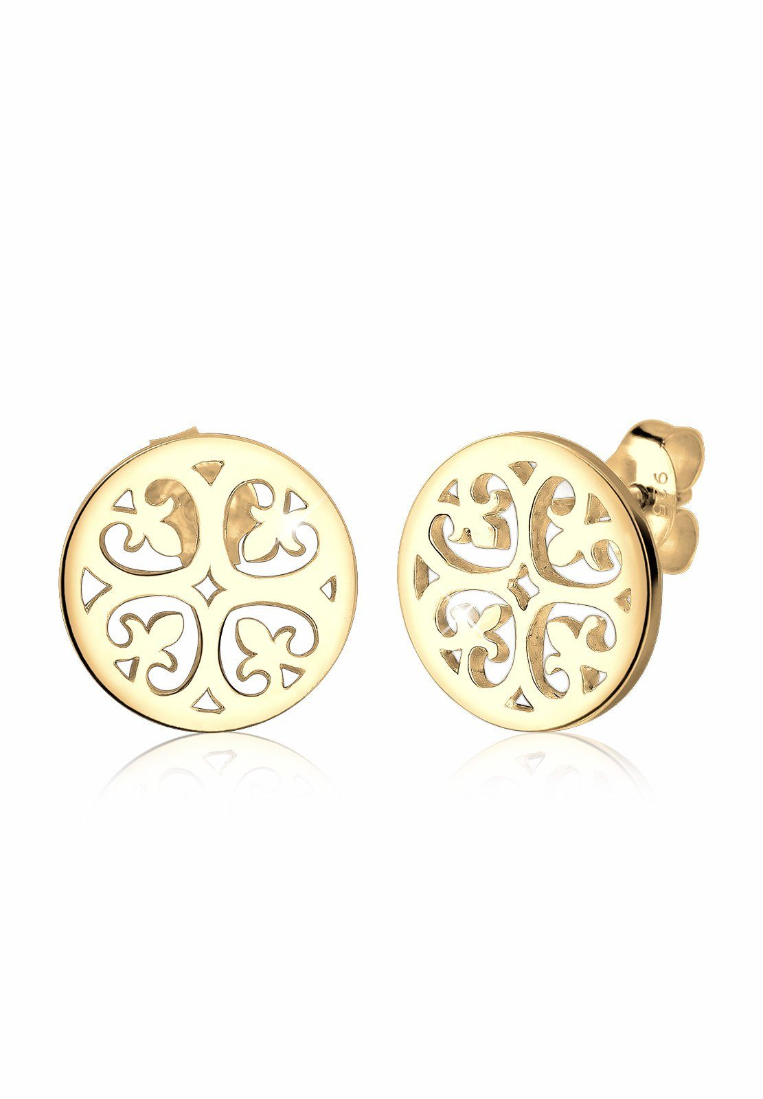 Elli Ohrringe »Ornament Orientalisch Filigran Silber vergoldet«