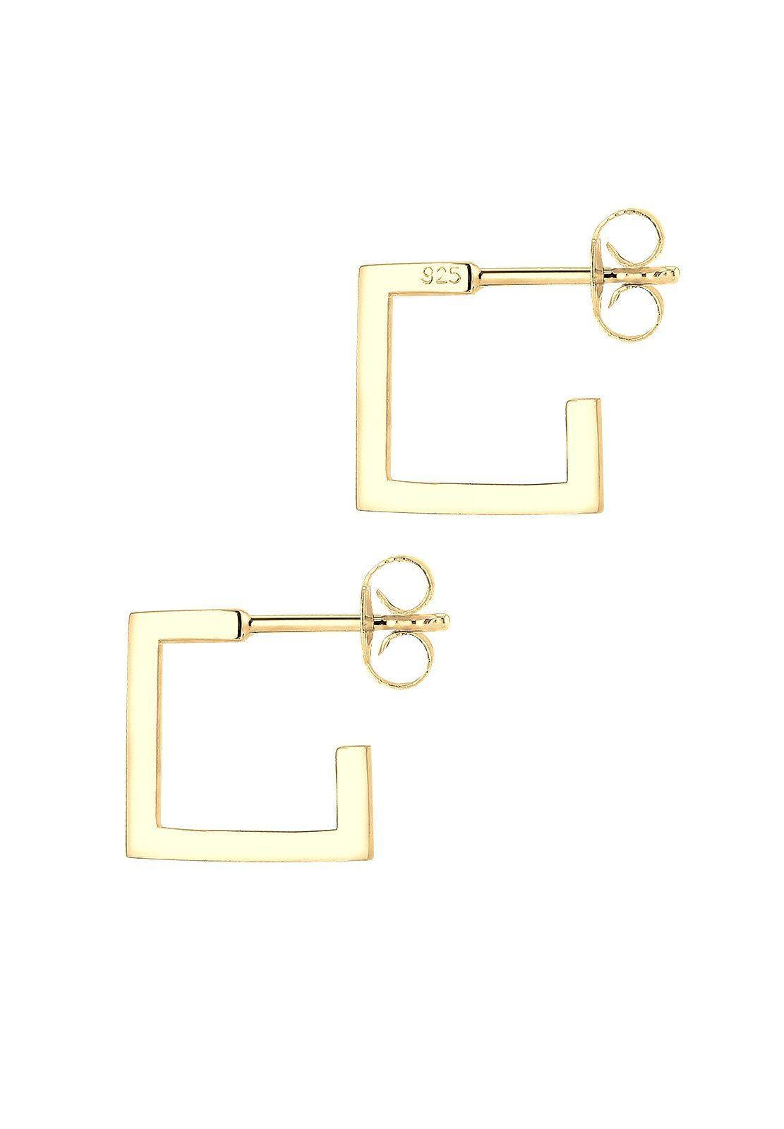Elli Viereck Silber 925 Ohrringe Kaufen Online Vergoldet« Creole »geo Minimal bv6ygf7mIY