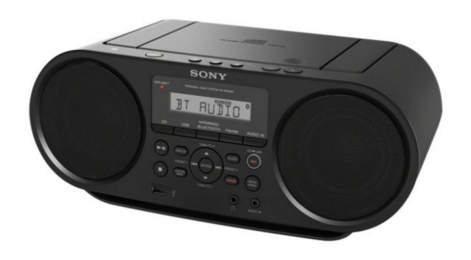 sony cd boombox mit bluetooth cd usb zs rs60bt. Black Bedroom Furniture Sets. Home Design Ideas