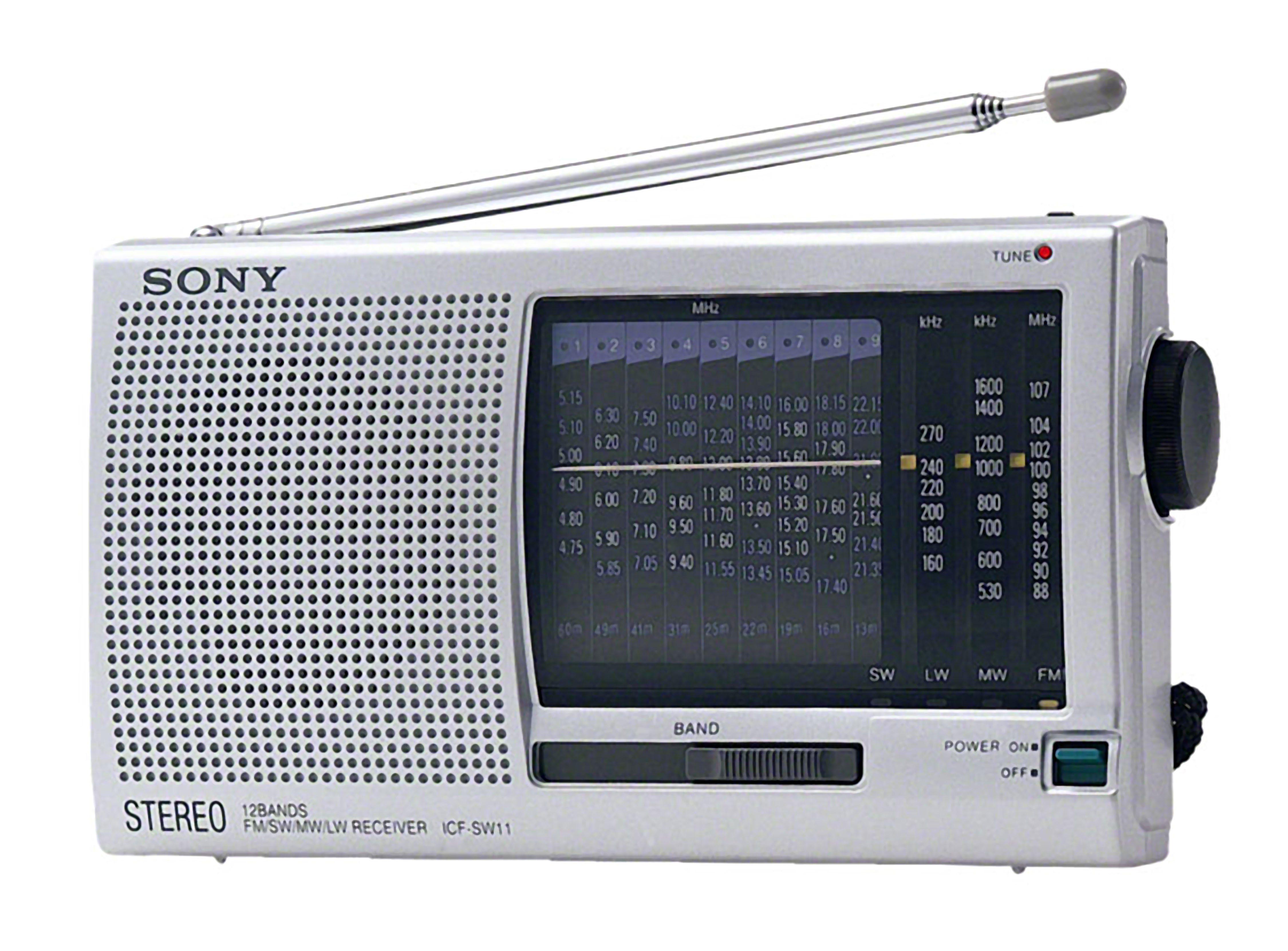 Sony Tragbares 12-Band Radio / Weltempfänger »ICF-SW11«