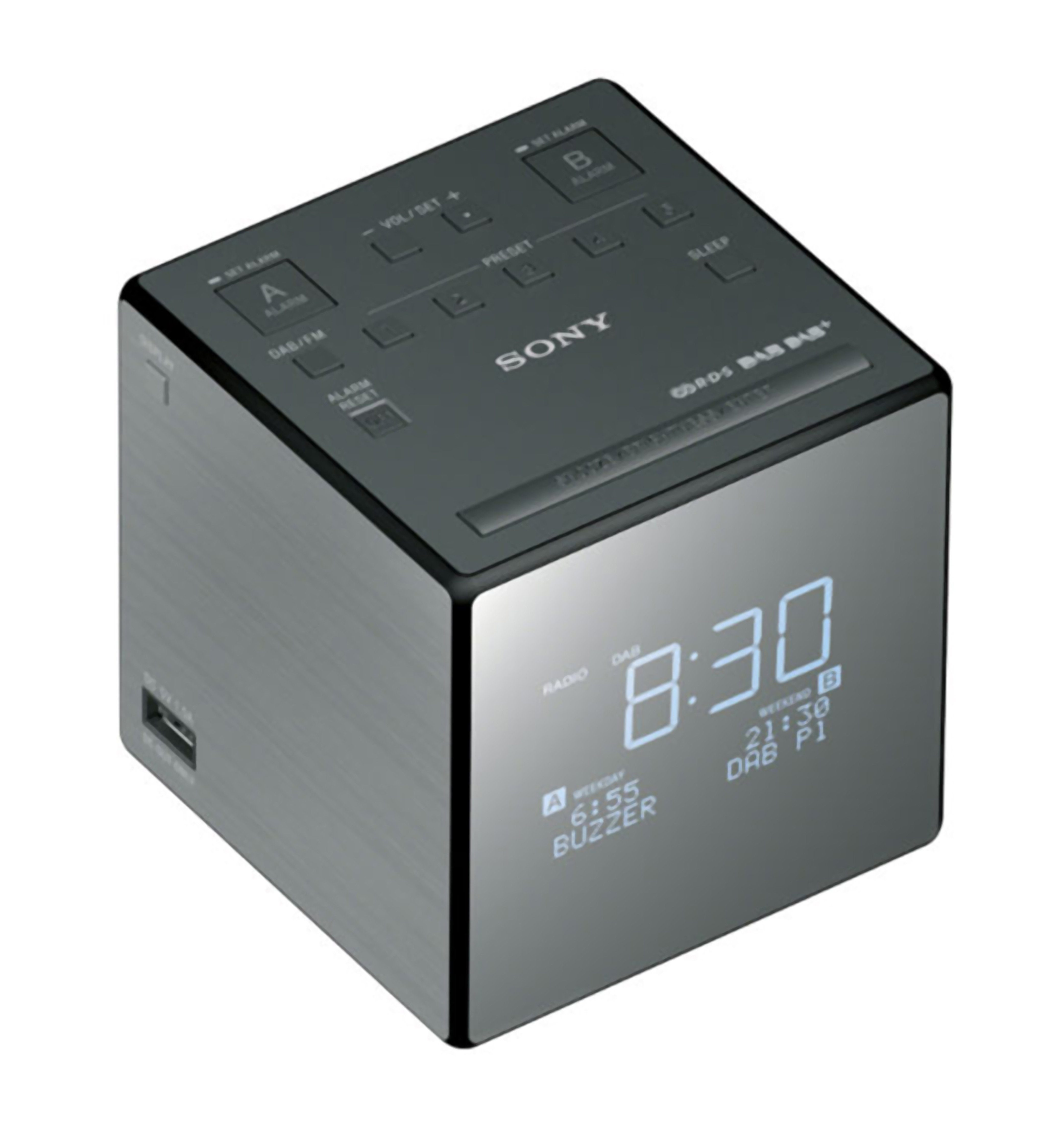 Sony Tragbares DAB / DAB+ / UKW Uhrenradio mit USB-Anschluss »XDR-C1DBP«