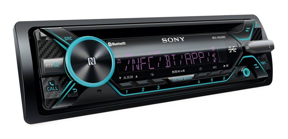 sony 1 din cd receiver mit dual bluetooth mex n5200bt. Black Bedroom Furniture Sets. Home Design Ideas