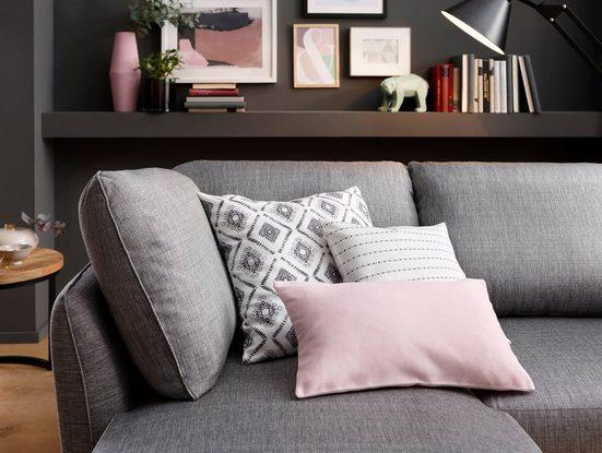 Kissenhüllen »Lena«, my home (3 Stück), mit Rauten, gestreiftem und gemustertem Design