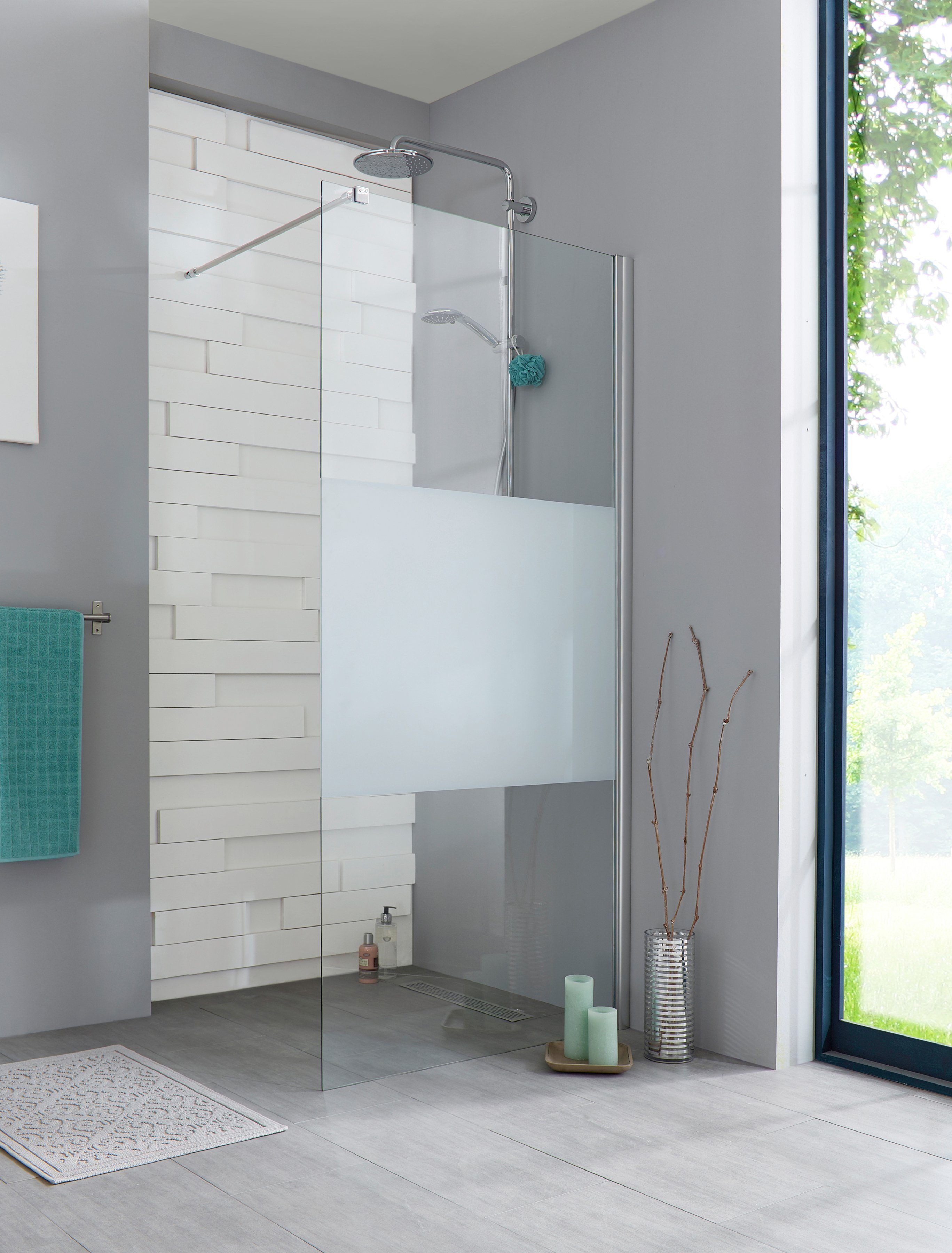 Walk-In Dusche »Relax«, Duschabtrennung 90 cm