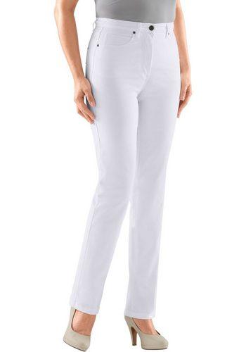 Damen Collection L. Jeans mit festem Bund und Gürtelschlaufen weiß | 06941938176563