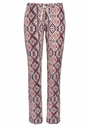 LASCANA Pyjama mit Hose im Ethno-Design