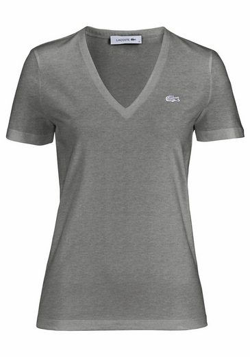 Lacoste T-Shirt, mit markentypischem Detail