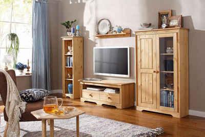 Wohnwand rustikal  Massivholz Wohnwand kaufen » Holz & Holzoptik | OTTO