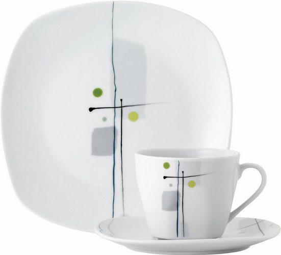 van Well Kaffeeservice »LIDO« (18-tlg), Porzellan, Spülmaschinengeeignet