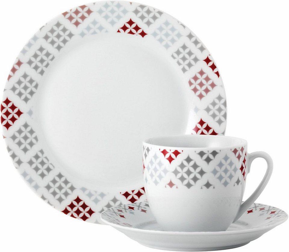 van well kaffeeservice medina red 18 tlg porzellan sp lmaschinengeeignet online kaufen otto. Black Bedroom Furniture Sets. Home Design Ideas