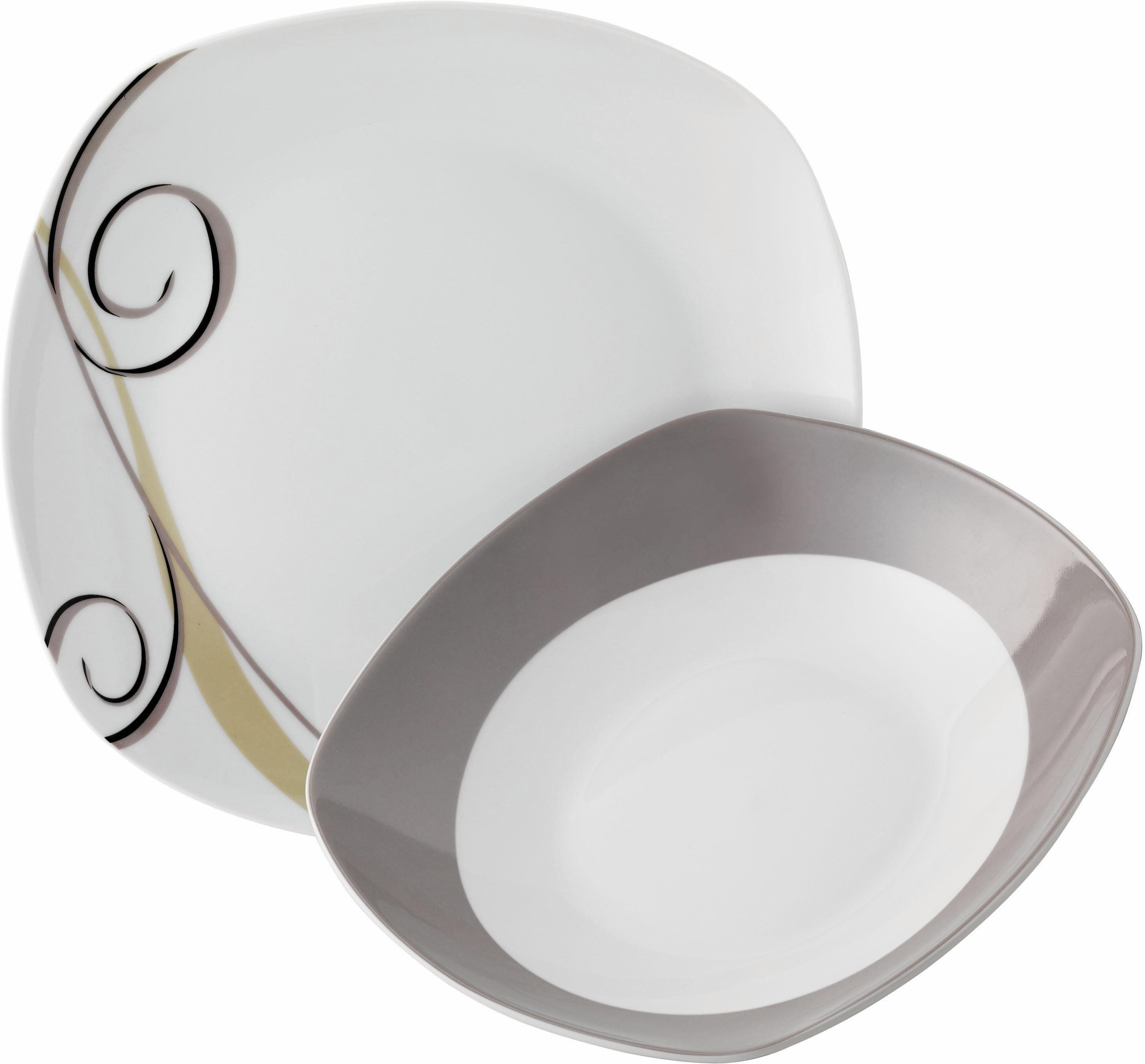 Van Well Tafelservice Porzellan, 12 Teile, »ALLEGRO«