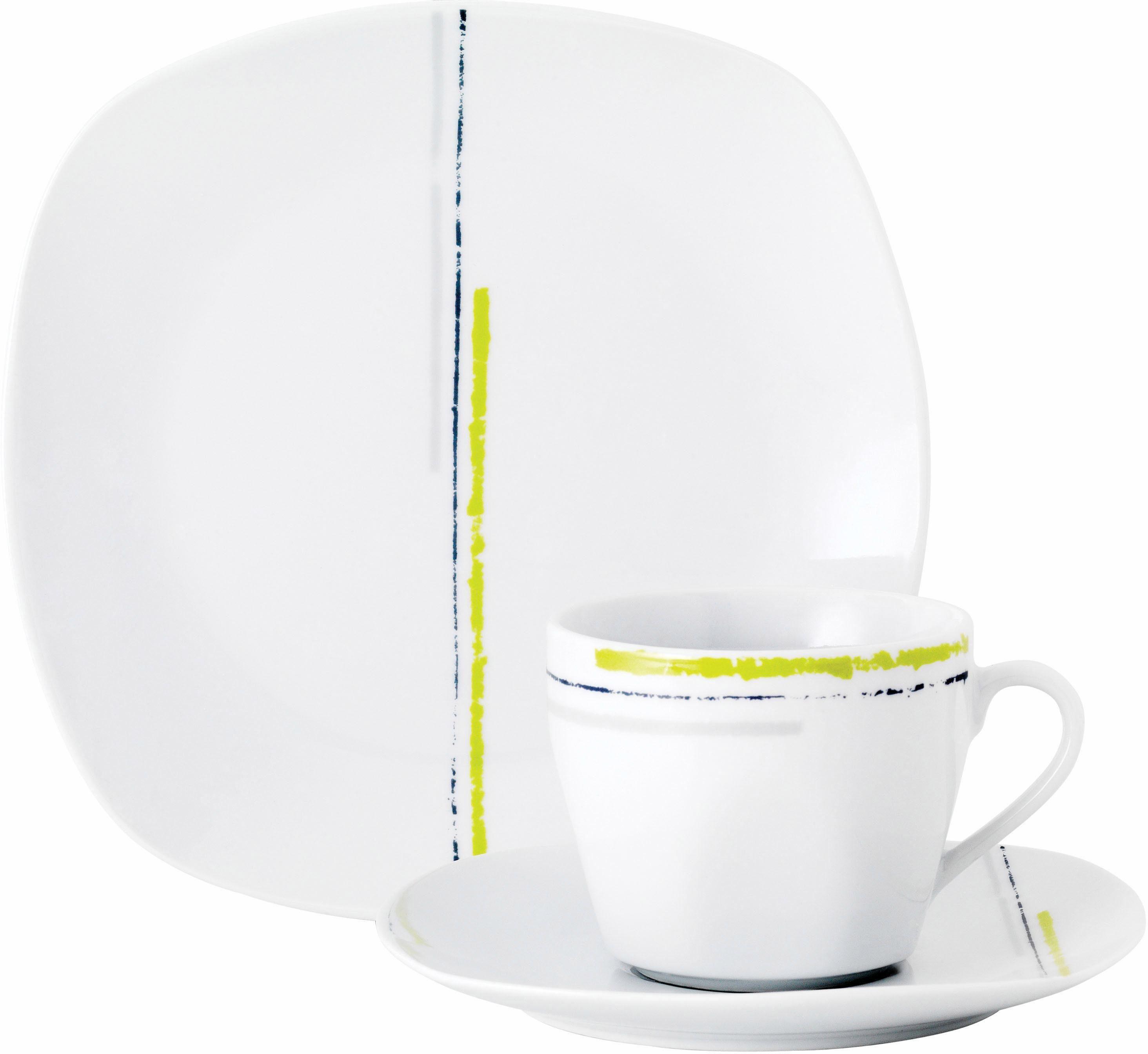 Van Well Kaffeeservice, Porzellan, 18 Teile, »LAREDO GREEN«