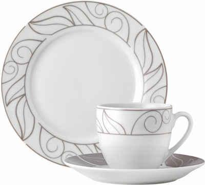 van Well Kaffeeservice »GRENOBLE« (18-tlg), Porzellan, Spülmaschinengeeignet