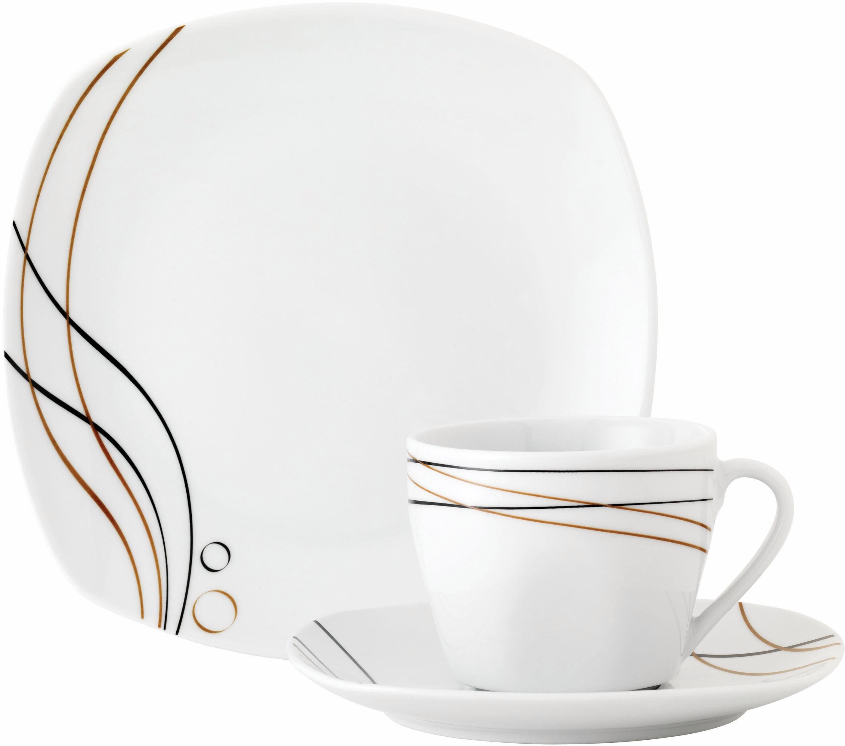 Van Well Kaffeeservice, Porzellan, 18 Teile, »ASPEN«