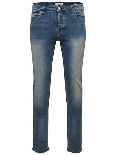 ONLY & SONS Loom med blue Denim Slim Fit Jeans
