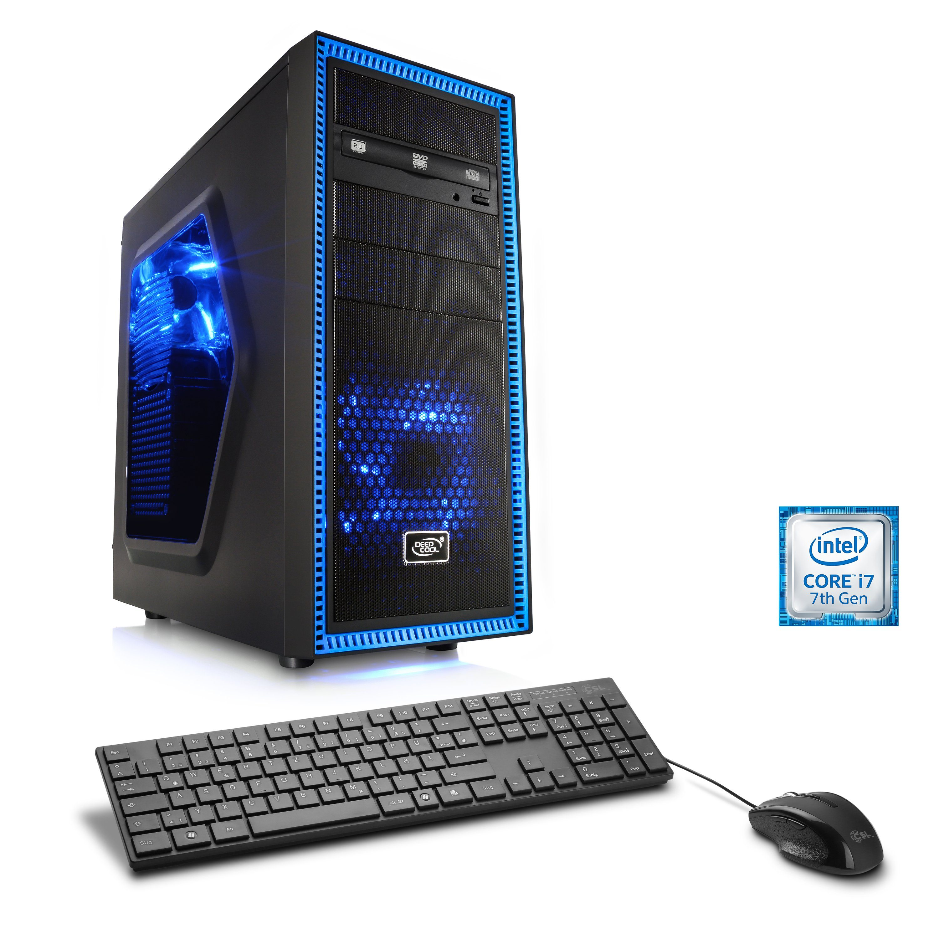 CSL Gaming PC | Core i7-7700 | GeForce GTX 1080 | 16 GB DDR4 | SSD »Speed T7575 Windows 10 Home«