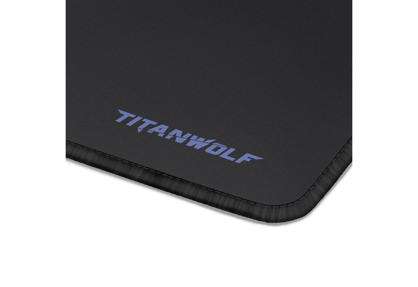 Titanwolf XXL Speed Gaming Mauspad - 44 x 35 0,3 cm »verbessert Präzision und Geschwindigkeit«