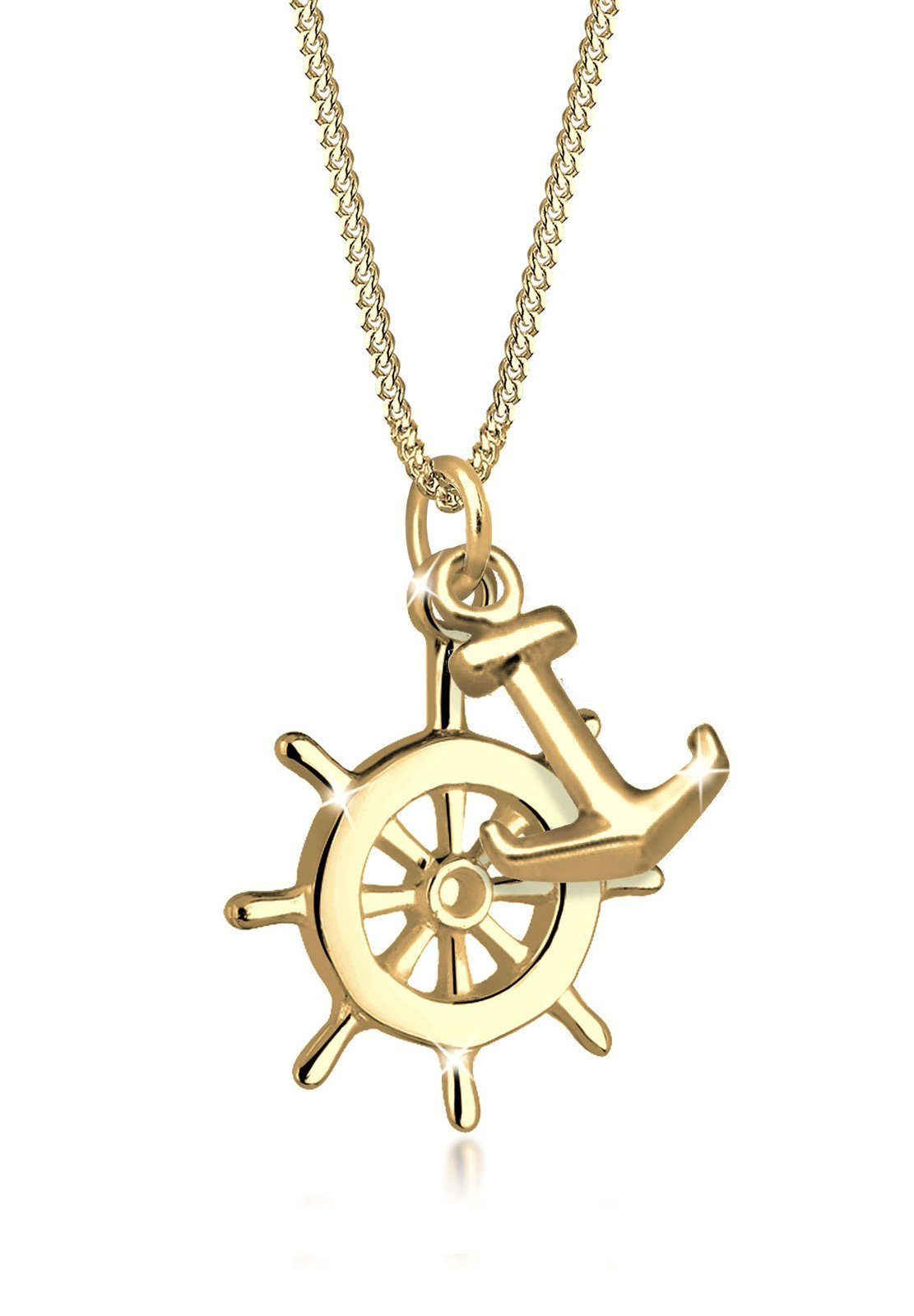 Goldhimmel Halskette »Steuerrad Anker Meer Strand 925 Sterling Silber«