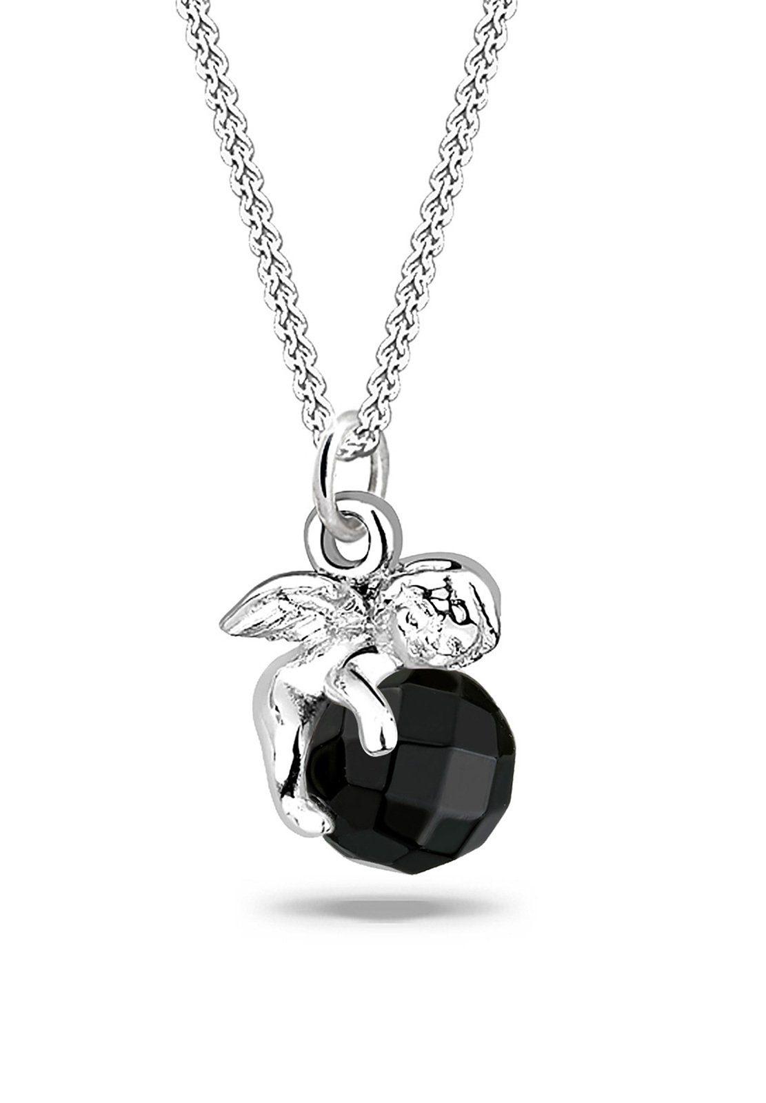 Elli Halskette »Engel Onyx Swarovski® 925 Sterling Silber«