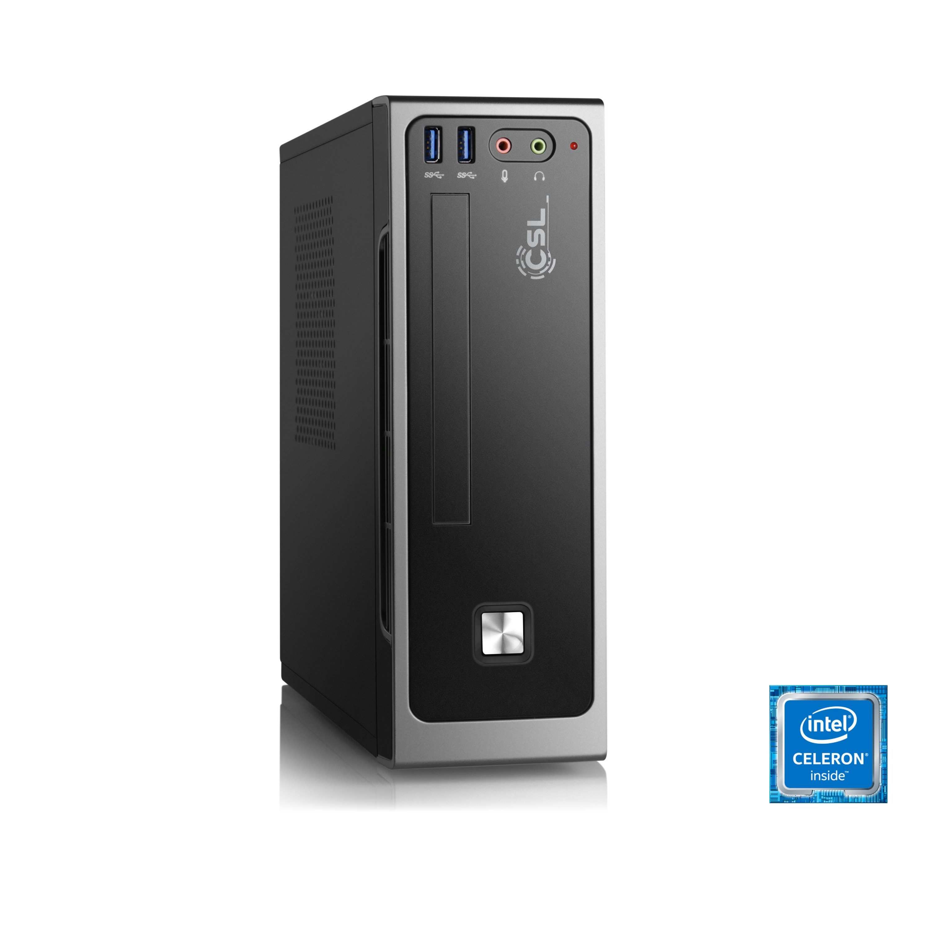 CSL Mini PC | Intel J3455 | Intel HD Grafik | 8GB DDR3 | SSD »Ultra Silent J3455-7 Windows 10«