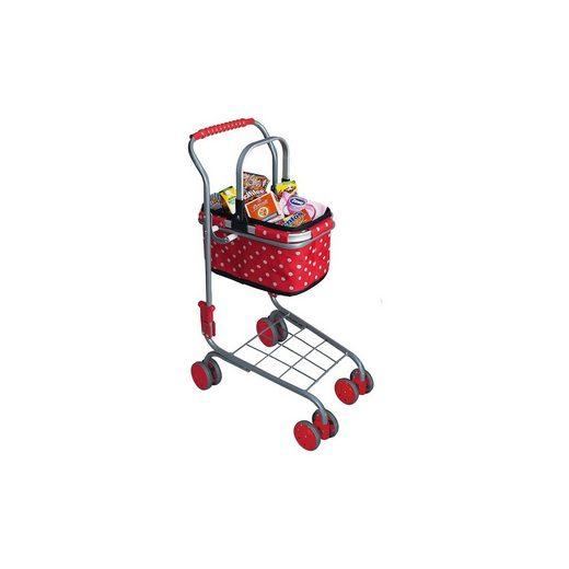 Chr. Tanner Einkaufswagen mit Tragekorb inkl. Spiellebensmittel, gepunkt