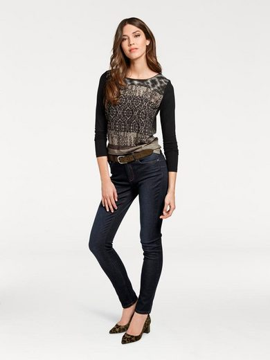 Ashley Brooke By Heine Crew-neck Shirt With Animal Print